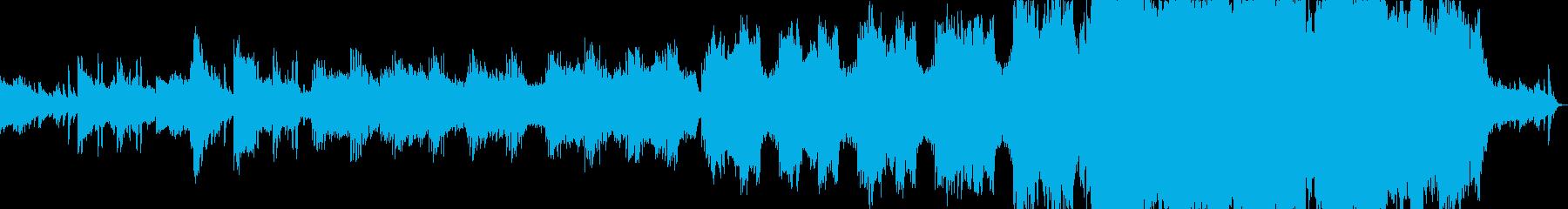 雄大な映画音楽的BGMの再生済みの波形