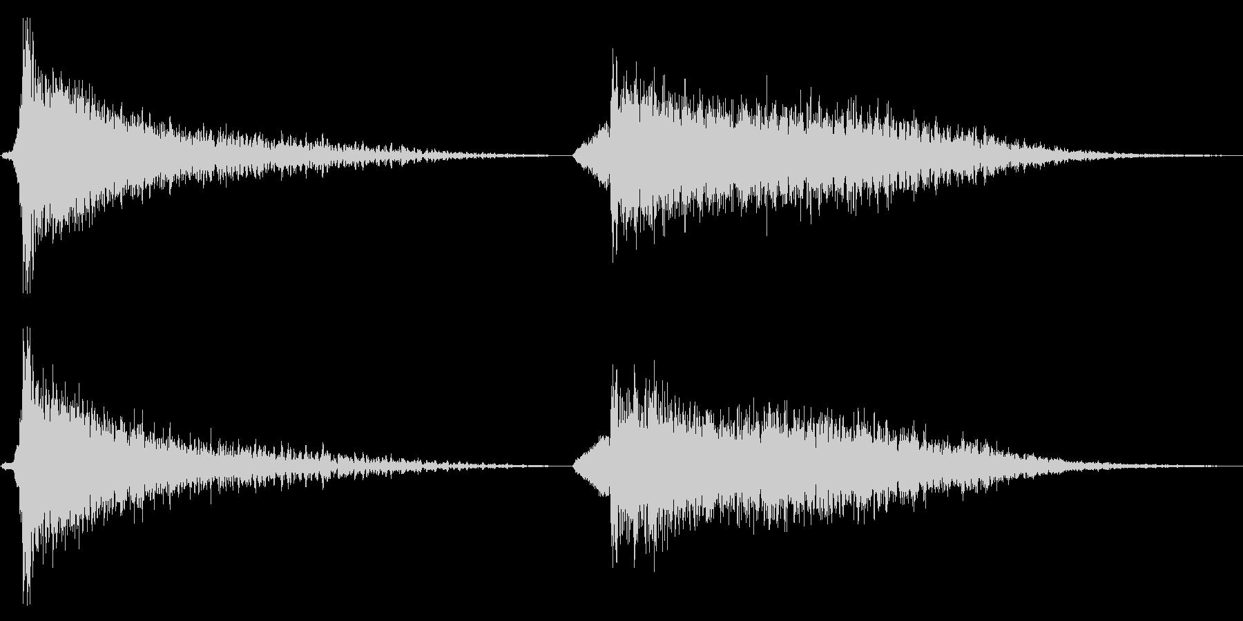 打撃 不気味なバースト大02の未再生の波形