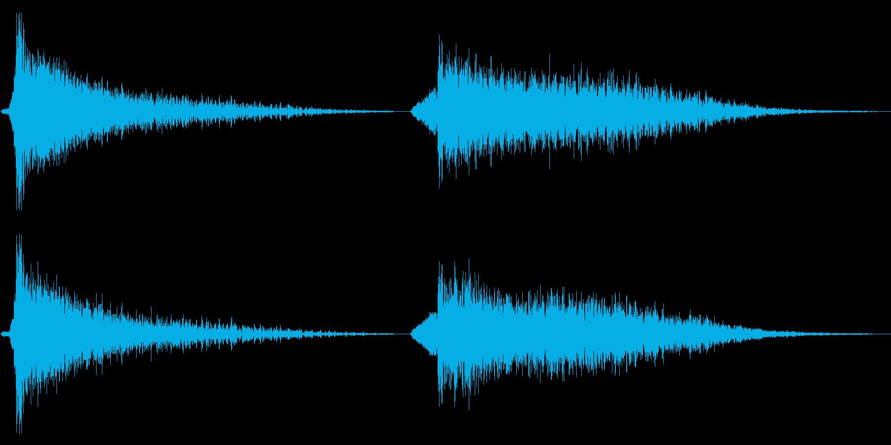 打撃 不気味なバースト大02の再生済みの波形