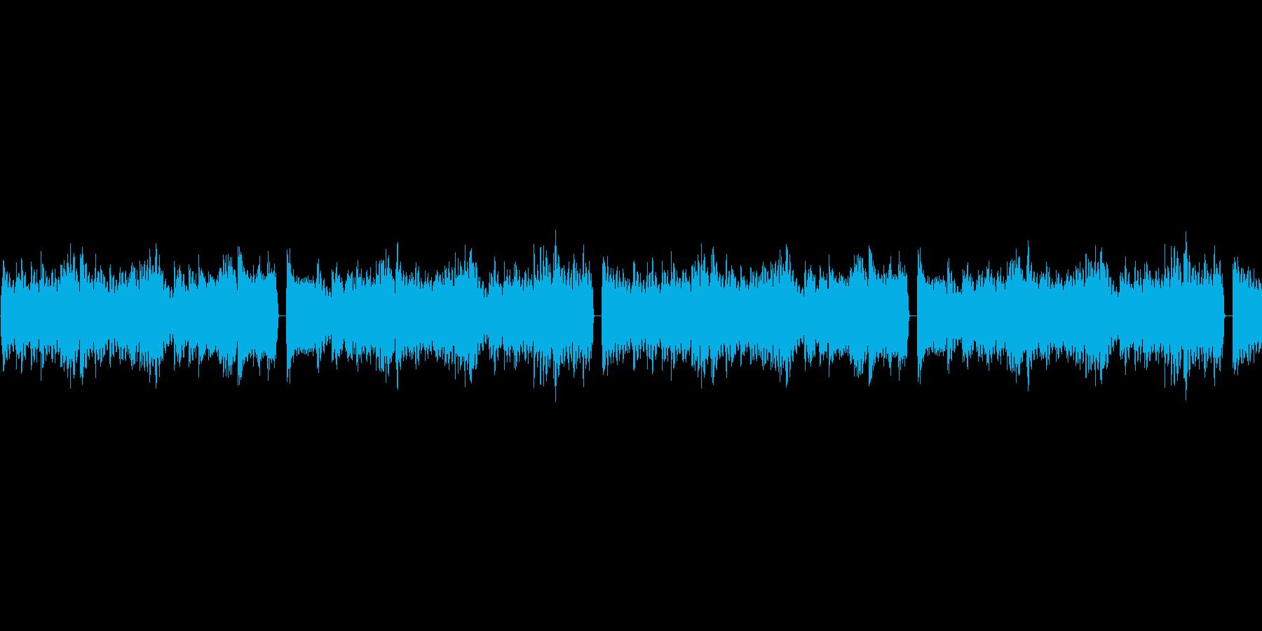 鬱系のループBGMの再生済みの波形