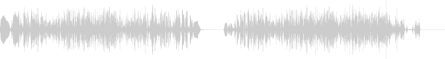 ショートスクラッチの未再生の波形