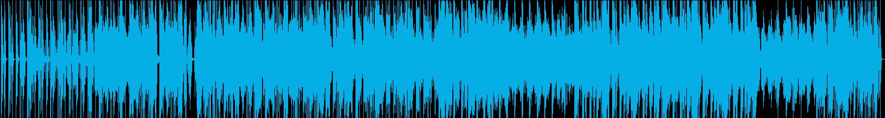 エッジの効いた機械サウンドの再生済みの波形