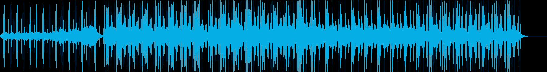低音しっかり浮遊感のあるエレクトロの再生済みの波形