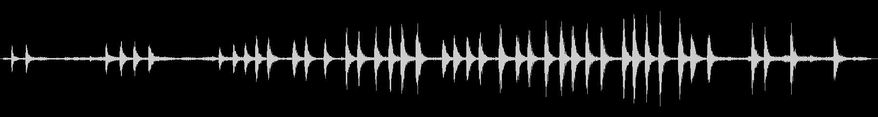 鶏の家で鳴くの未再生の波形