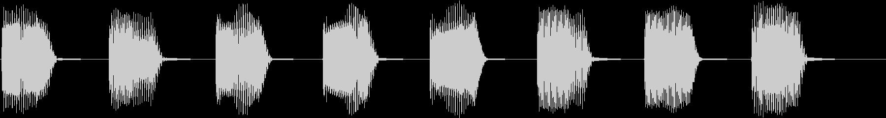 ロボットの機械制御音01の未再生の波形