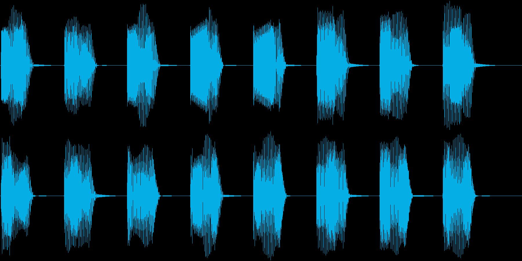 ロボットの機械制御音01の再生済みの波形