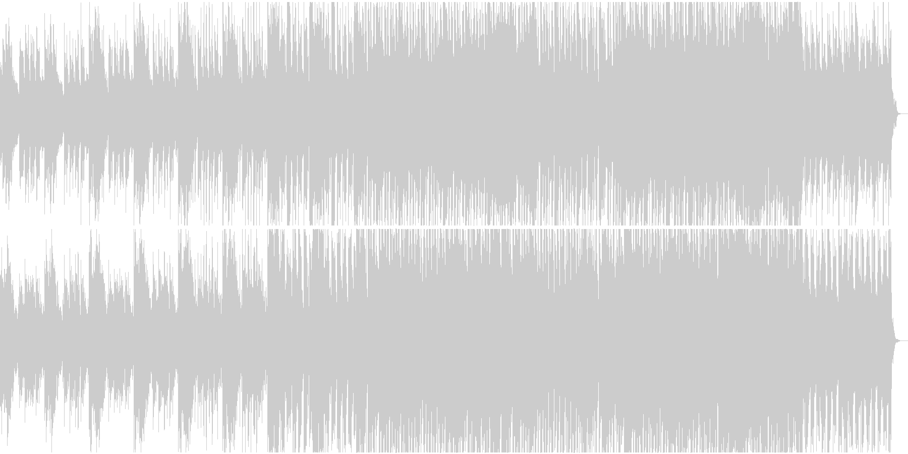 トランス系BGM1の未再生の波形