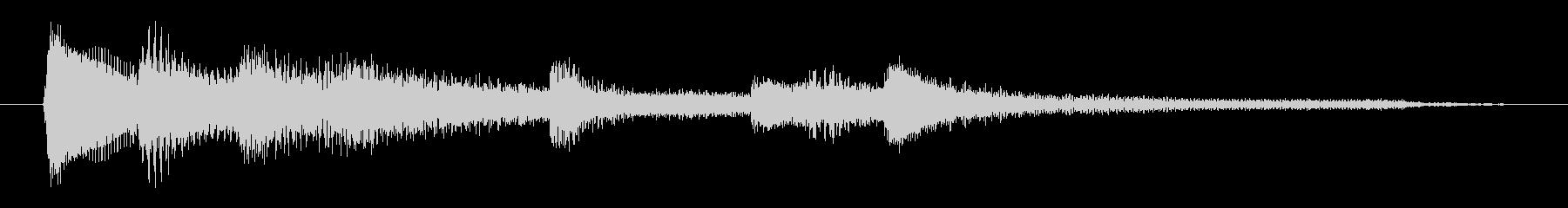 チャプター・場面転換等にピアノジングルDの未再生の波形