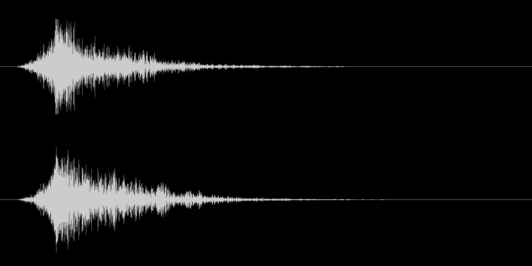 シュードーン-4(インパクト音)の未再生の波形