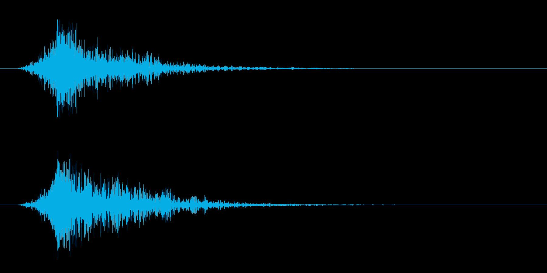 シュードーン-4(インパクト音)の再生済みの波形