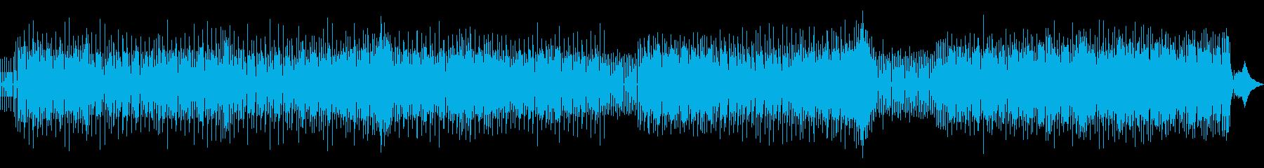 楽しい雰囲気のテクノの再生済みの波形