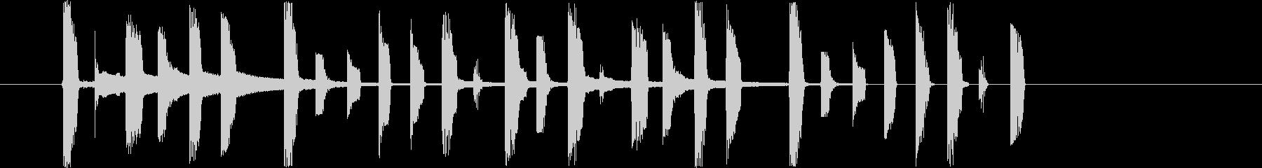 ファミコン風のかわいらしいジングルの未再生の波形