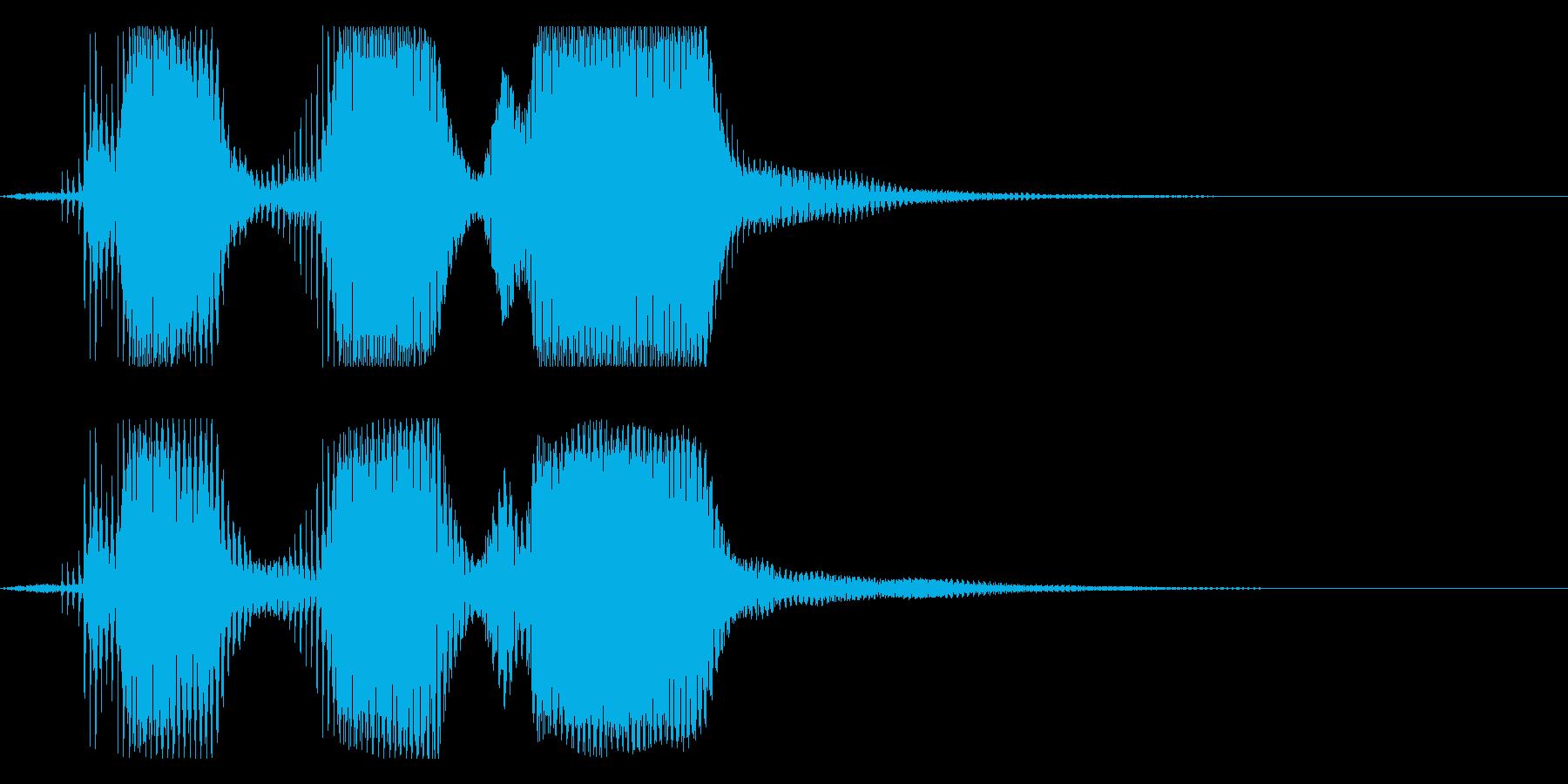 速めスリーツーワン(ロボット声)の再生済みの波形