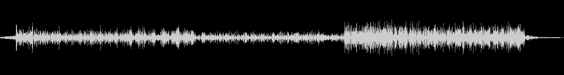 ビープ音10の未再生の波形