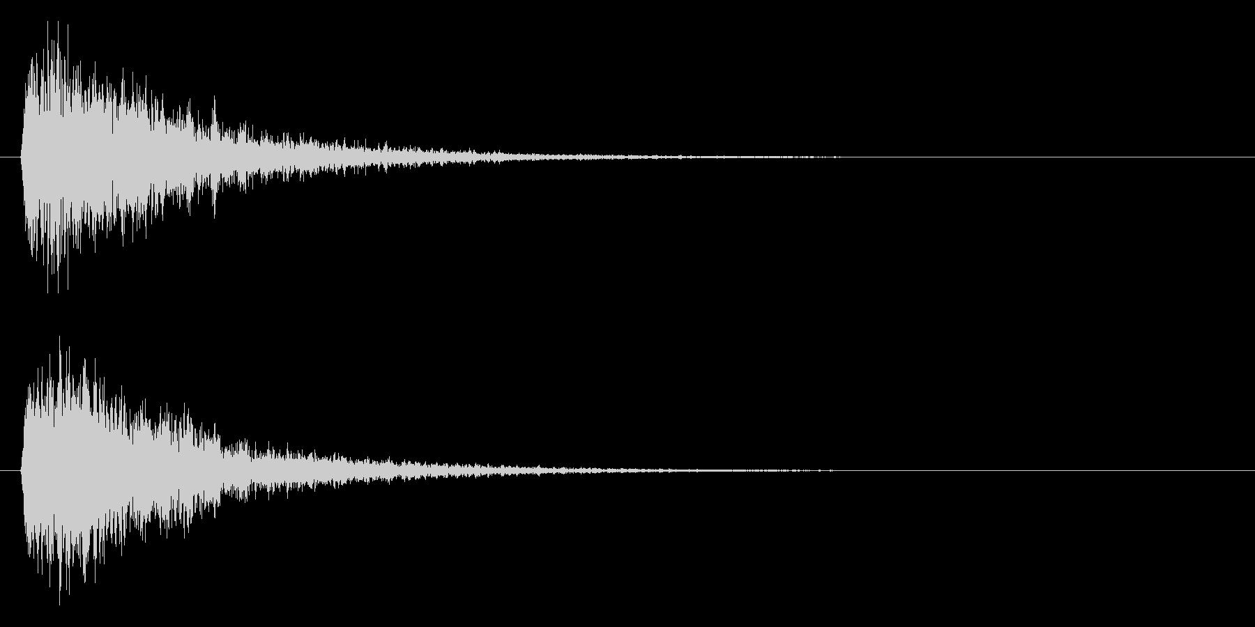 ジャン(ゲームオーバー等)の未再生の波形