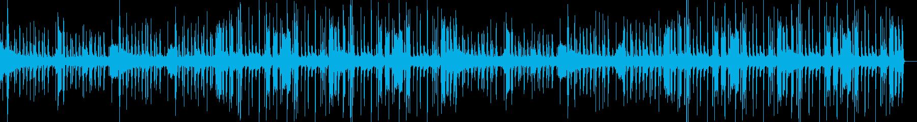 ファンク・フュージョンっぽいブラスの曲の再生済みの波形