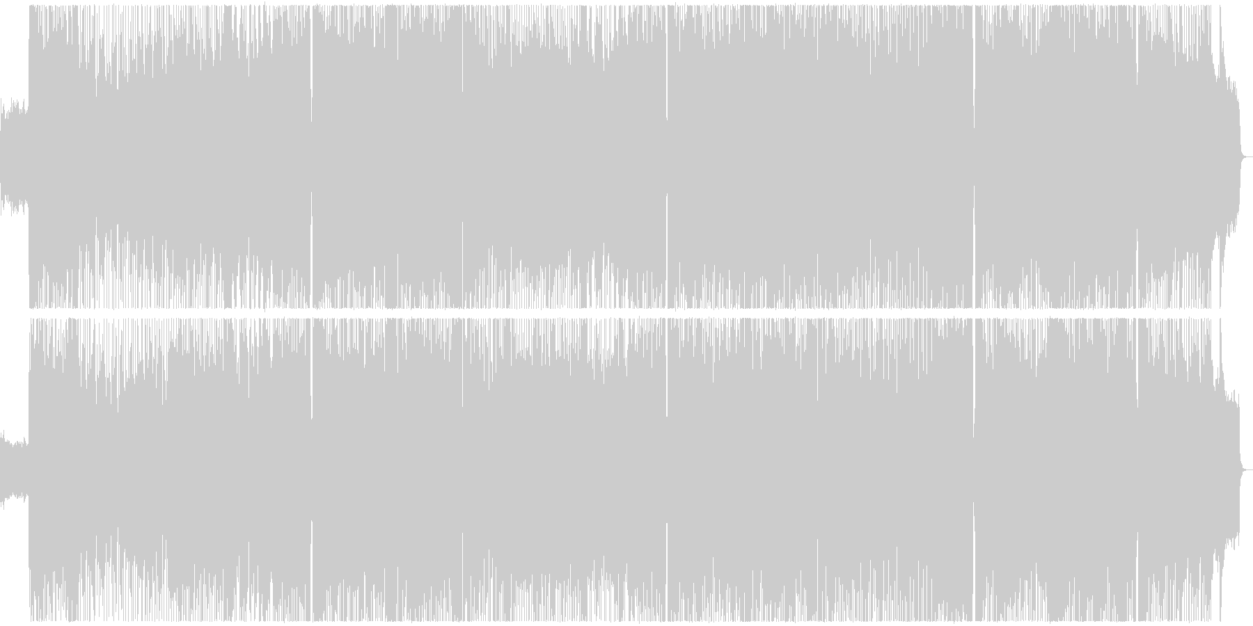 ほのぼのとしたフルートのJ-Popの未再生の波形