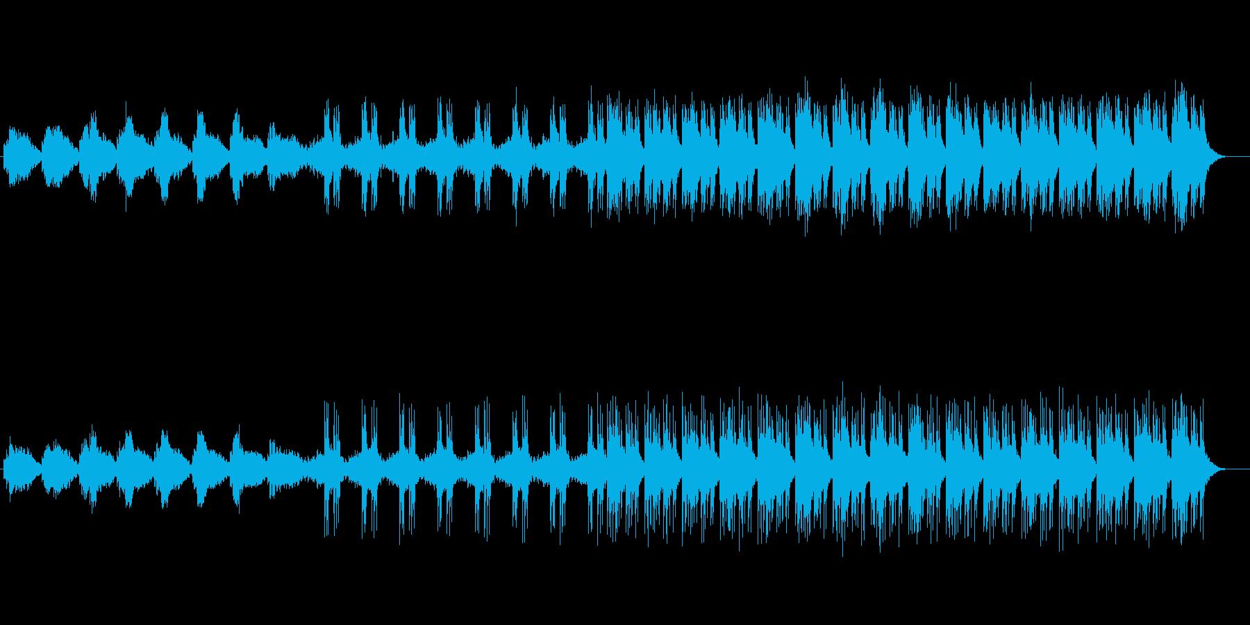 宇宙やロボット感のあるシンセサウンドの再生済みの波形