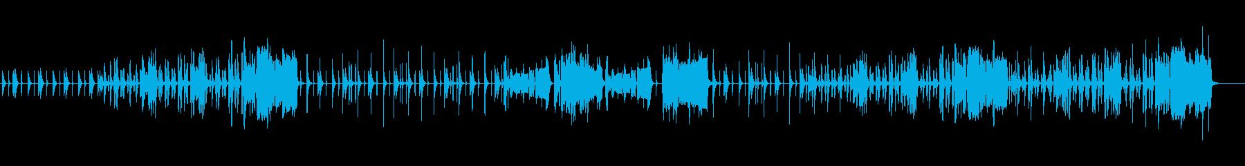 ほんわかしていてかわいい音楽の再生済みの波形