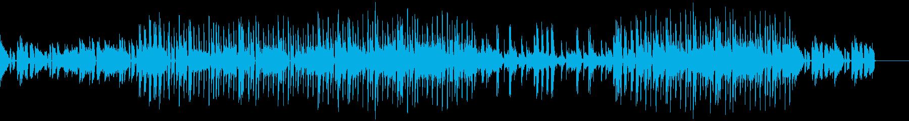 静かにうねる癒やされヒップホップの再生済みの波形