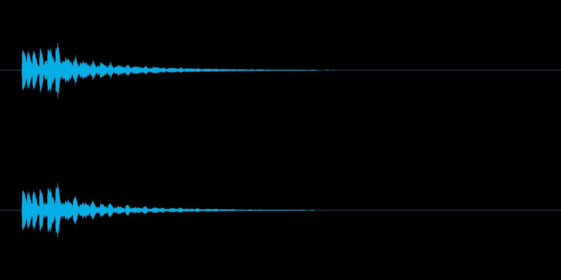 【ショートブリッジ17-1】の再生済みの波形