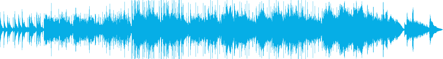 和の情緒あふれる感動BGMの再生済みの波形