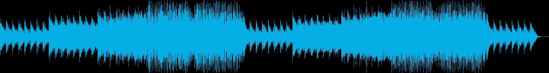 近未来を感じる映画のような洋楽EDMの再生済みの波形