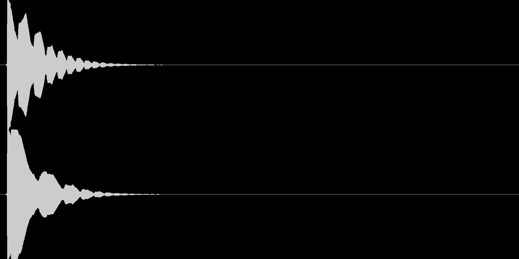 ポイーン(ジャンプ音、アクション、高め)の未再生の波形