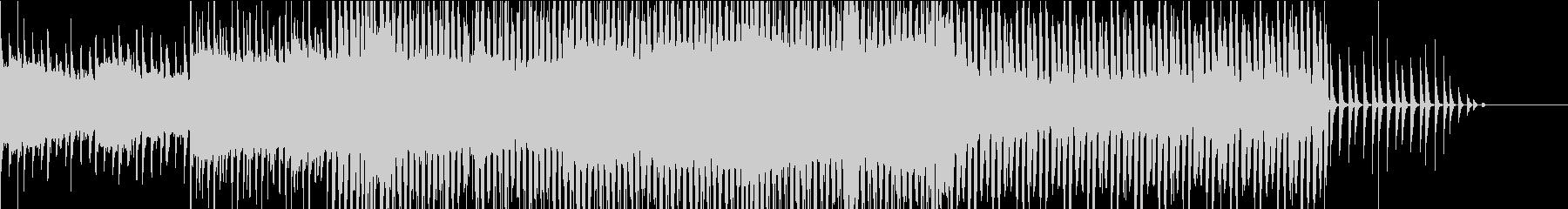メロウなシンセフレーズとハードなベースの未再生の波形