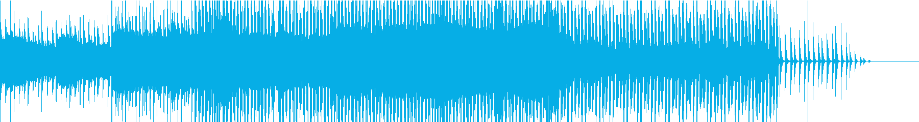 メロウなシンセフレーズとハードなベースの再生済みの波形
