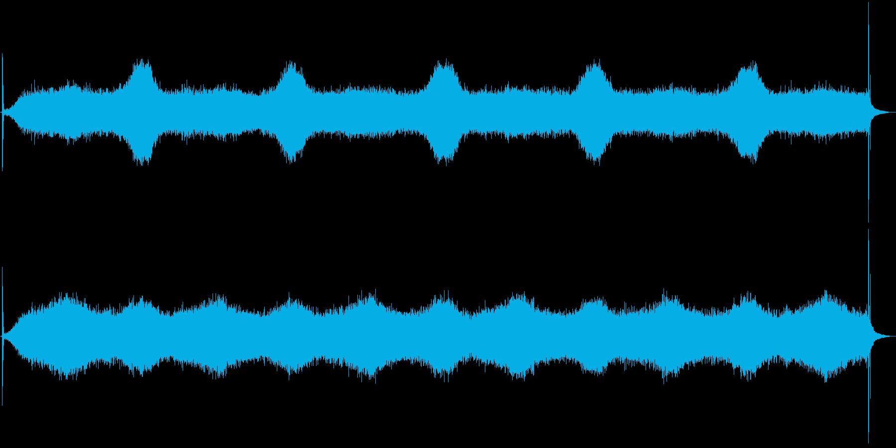 カチッブオオオ…カチッ (動作音一式)の再生済みの波形