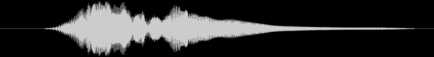選択音、決定音など (テッ)の未再生の波形