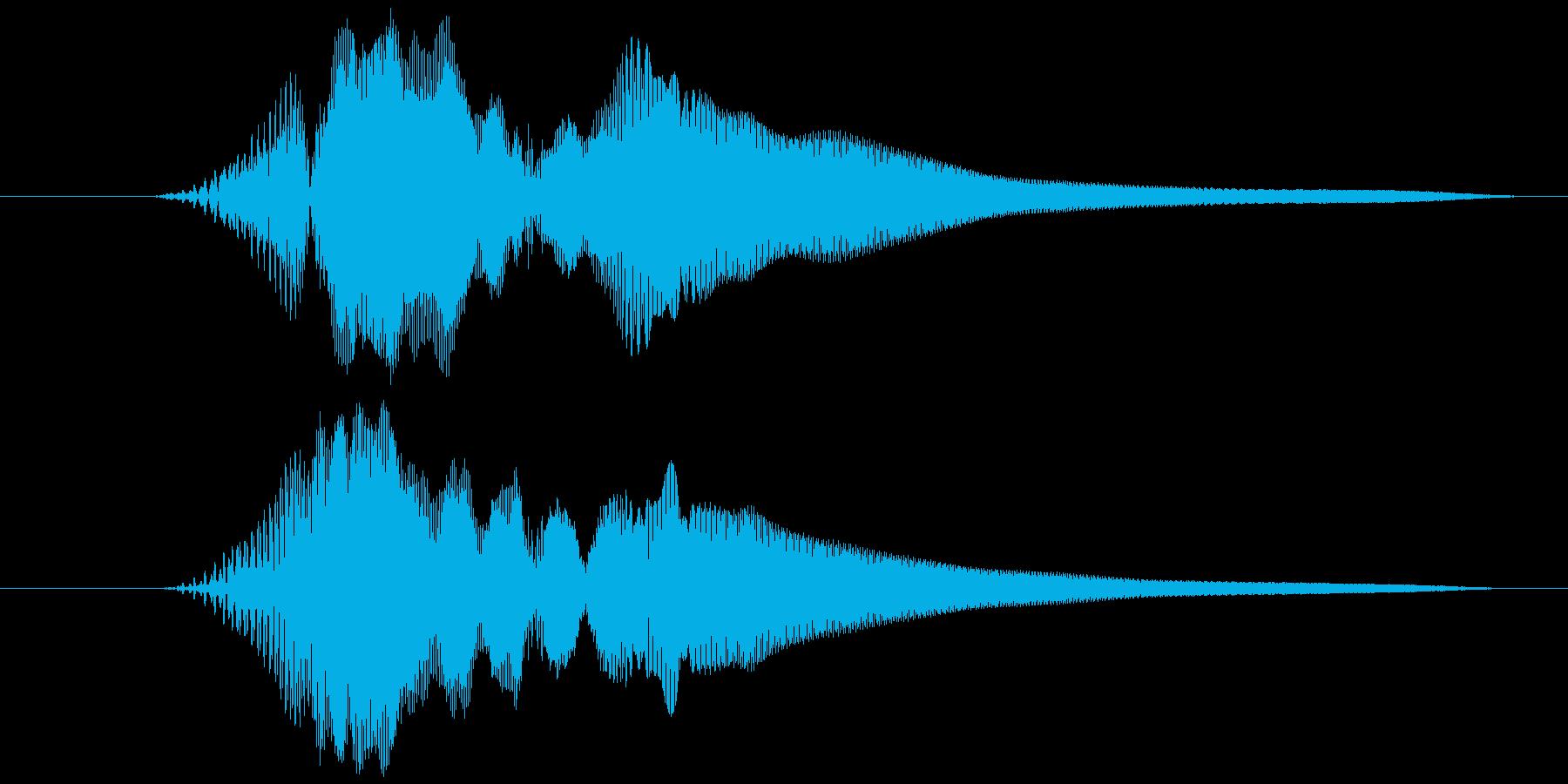 選択音、決定音など (テッ)の再生済みの波形