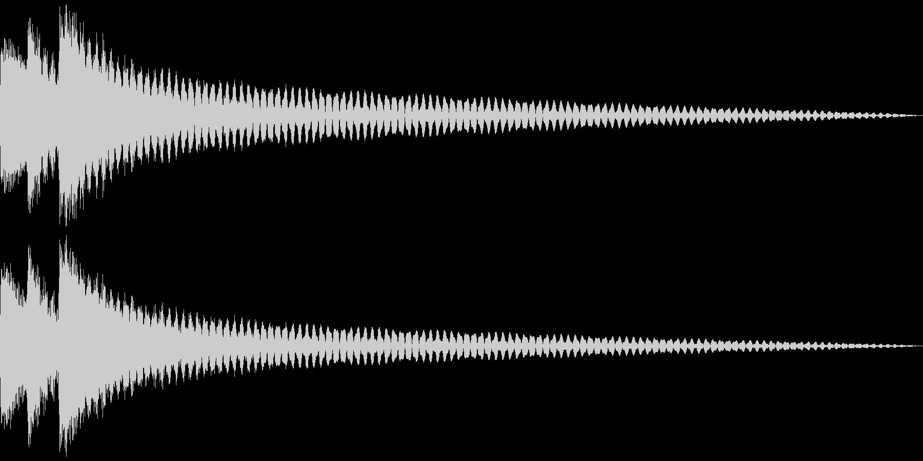 ヒント、閃き、発見。ティローン (鉄琴)の未再生の波形