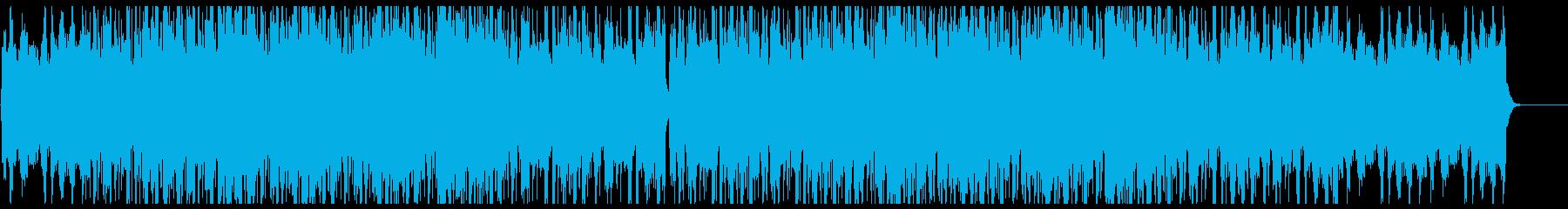 幻想的エレクトロビートトラックの再生済みの波形