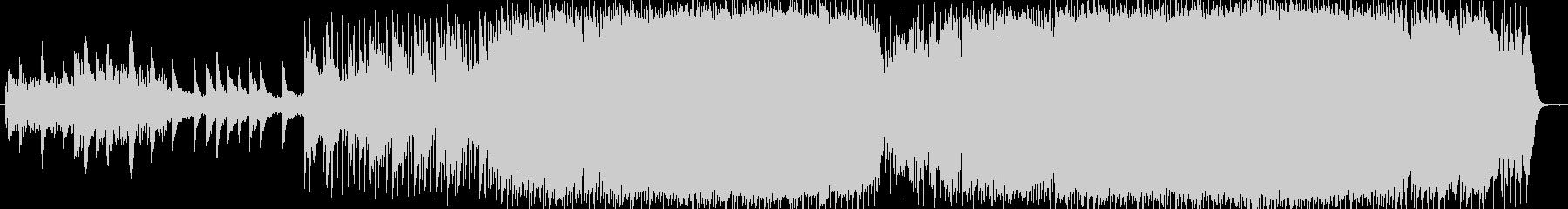 広大で宇宙的なシンセのメロディが特徴の曲の未再生の波形