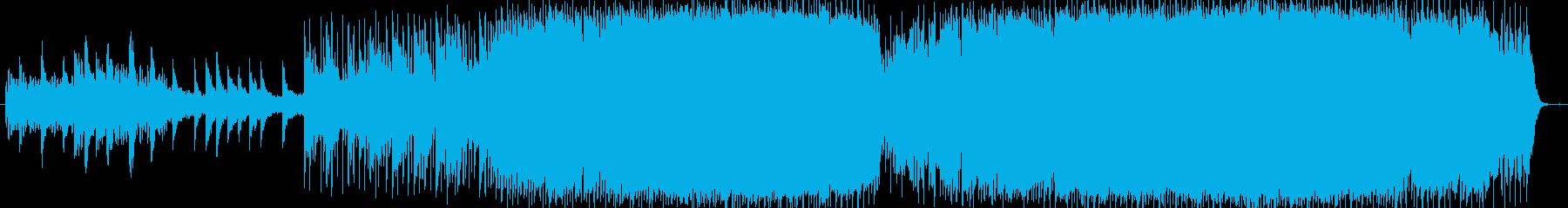 広大で宇宙的なシンセのメロディが特徴の曲の再生済みの波形