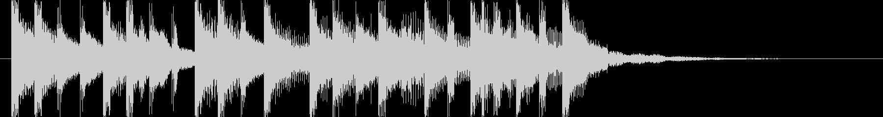 ラジオに合う爽やかポップジングル5の未再生の波形