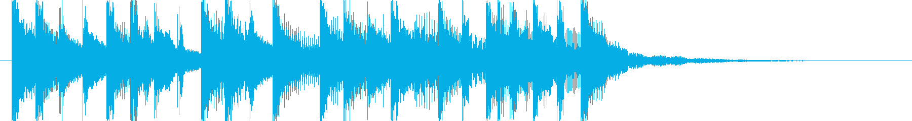 ラジオに合う爽やかポップジングル5の再生済みの波形