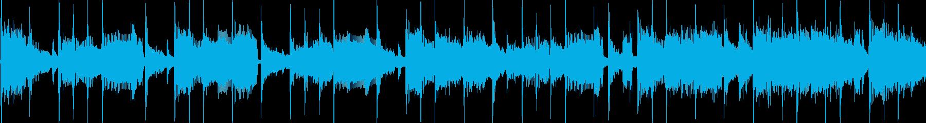 明るく気怠い楽観的なファンクジングルLPの再生済みの波形