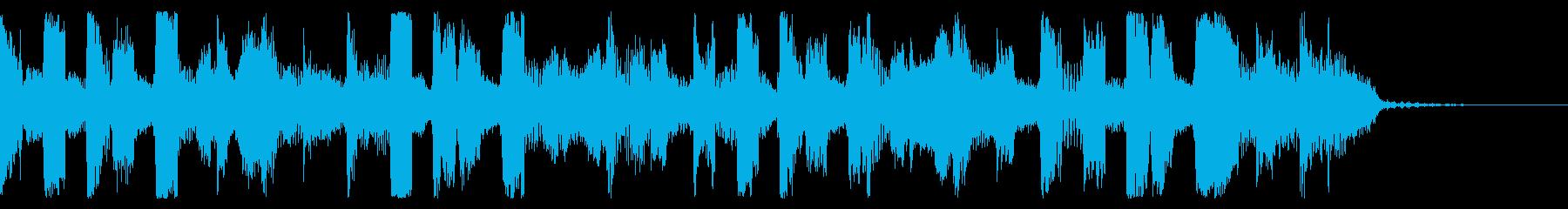 コミカルで明るい 軽快なジングルの再生済みの波形