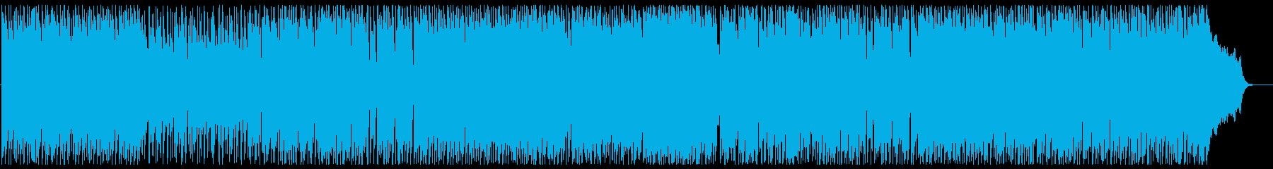 軽快でスタイリッシュなメロディーの再生済みの波形