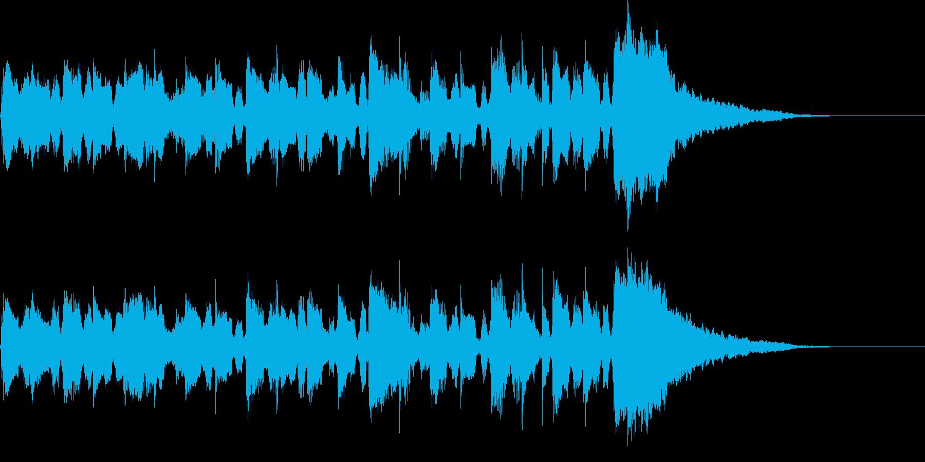 元気でルンルンな11秒のサウンドロゴの再生済みの波形