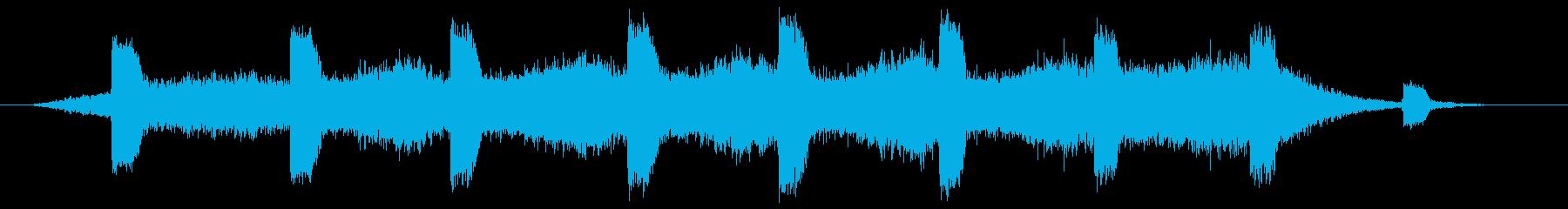 ホラー系アンビエントの再生済みの波形