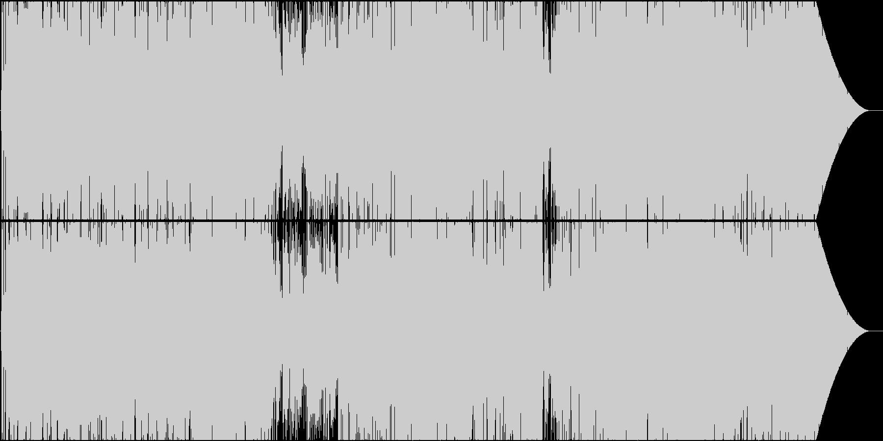スムースなメロディのポップスの未再生の波形