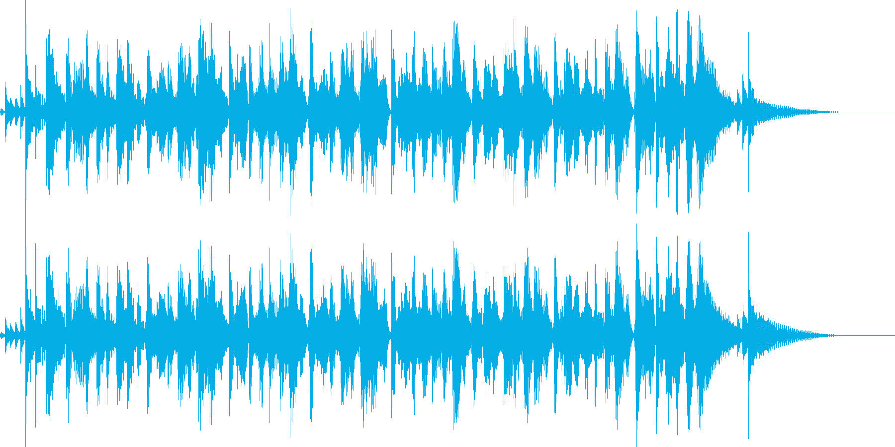 トランペットのマーチング風なジングルの再生済みの波形