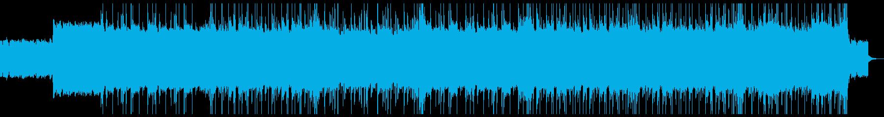イキイキとしたロックとヒップホップの再生済みの波形
