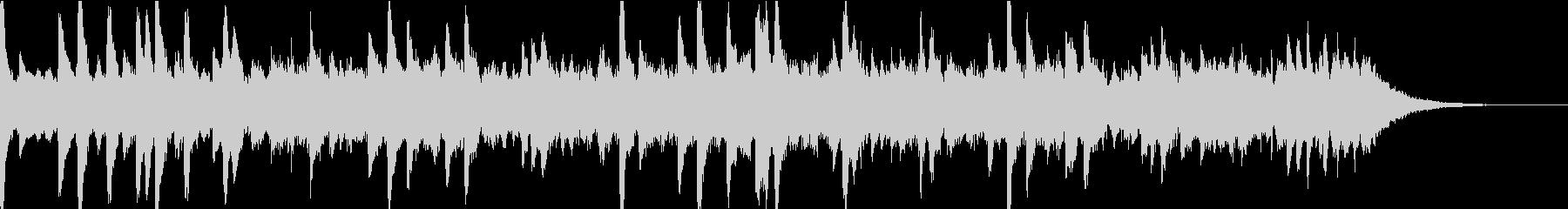 雨の音とリラクゼーションピアノの未再生の波形
