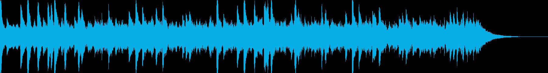 雨の音とリラクゼーションピアノの再生済みの波形