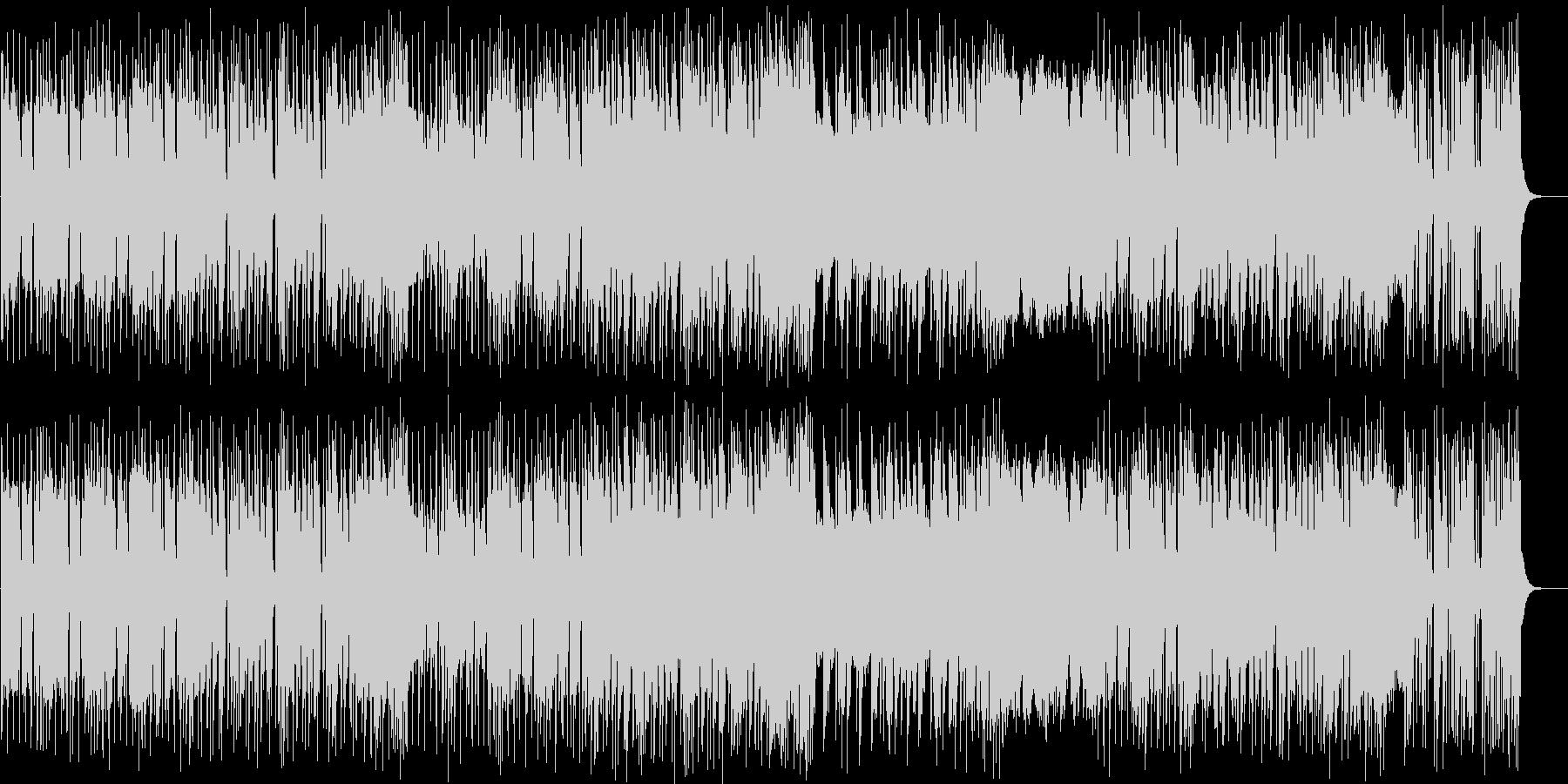 強烈ビートのヘビーメタルの未再生の波形